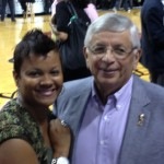 Shondia Sabari and Former NBA Commissioner, David Stern