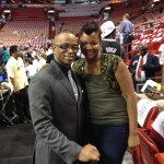 Shondia Sabari and ESPN Anchor, Stuart Scott